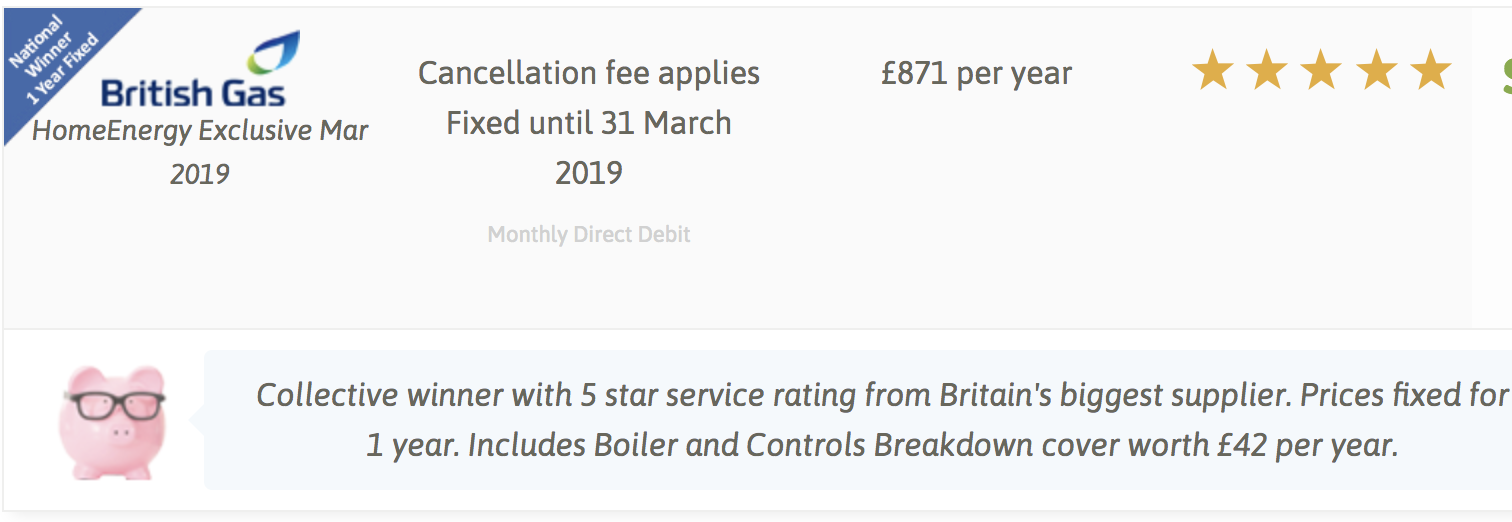 British Gas offer feb 2018
